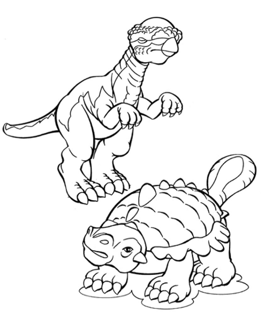 Dinosaurs Coloring Page For Kids