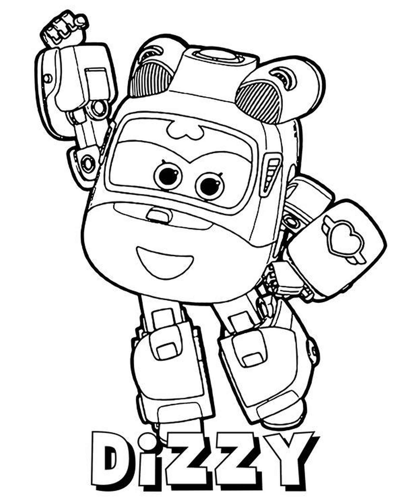 Dizzy Coloring Page