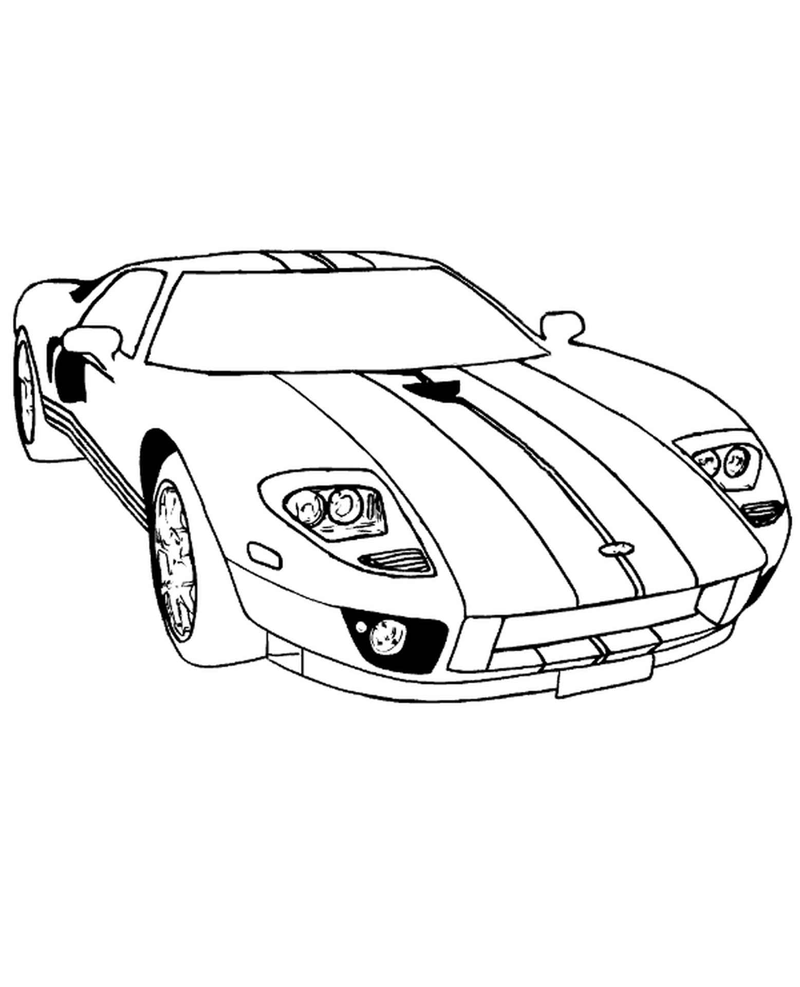 Dodge Viper Free Coloring Page