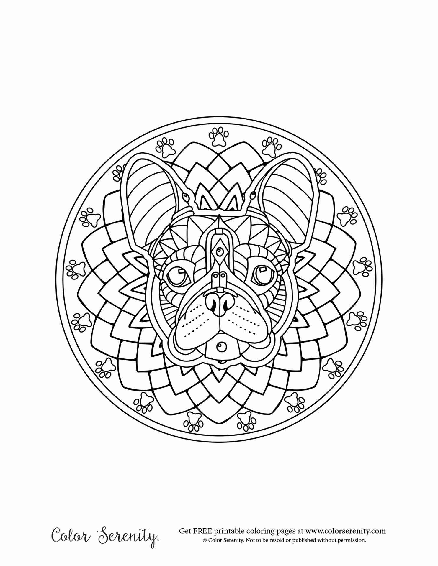 Dog Mandala Coloring Book