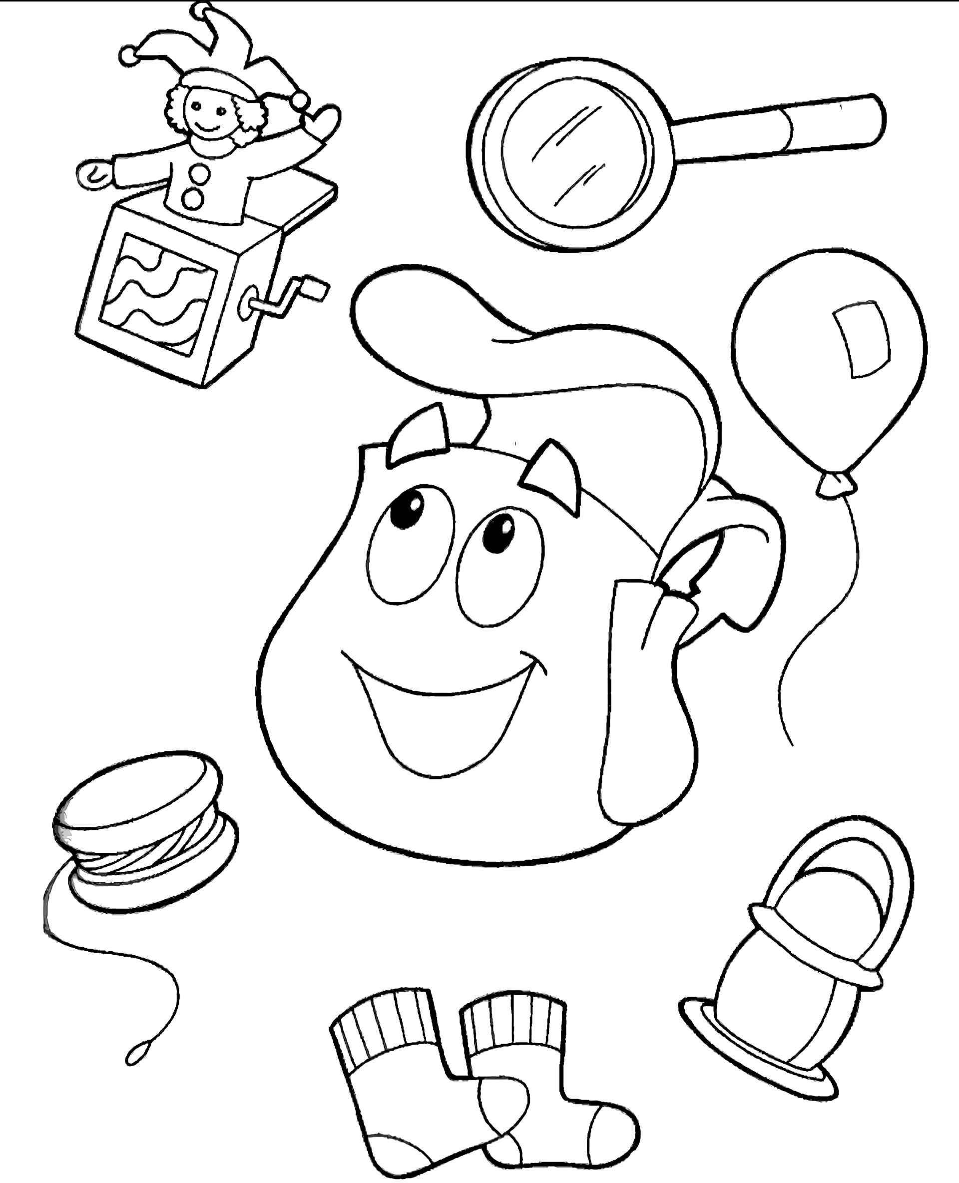Dora's Backpack Coloring Page