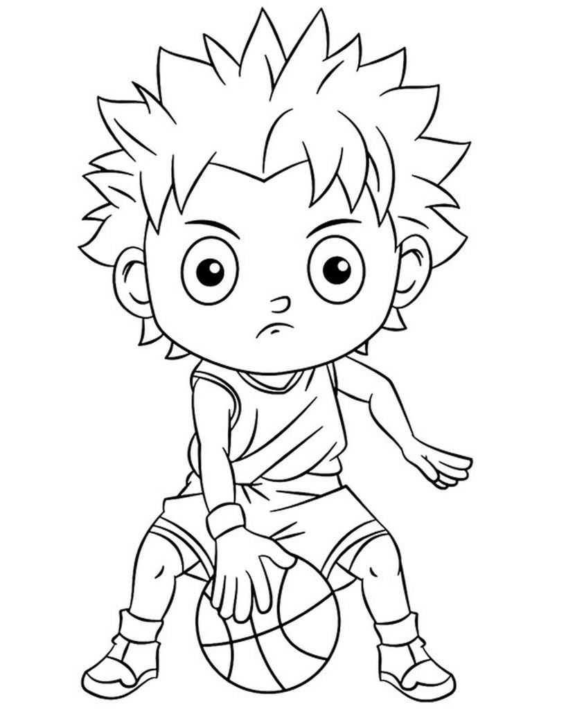 Dribbling The Ball Coloring Page
