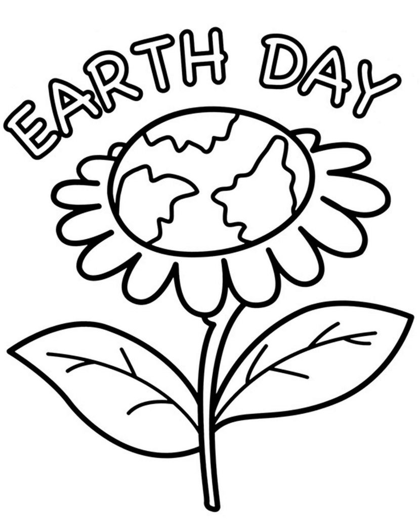 Earth Day Card To Color