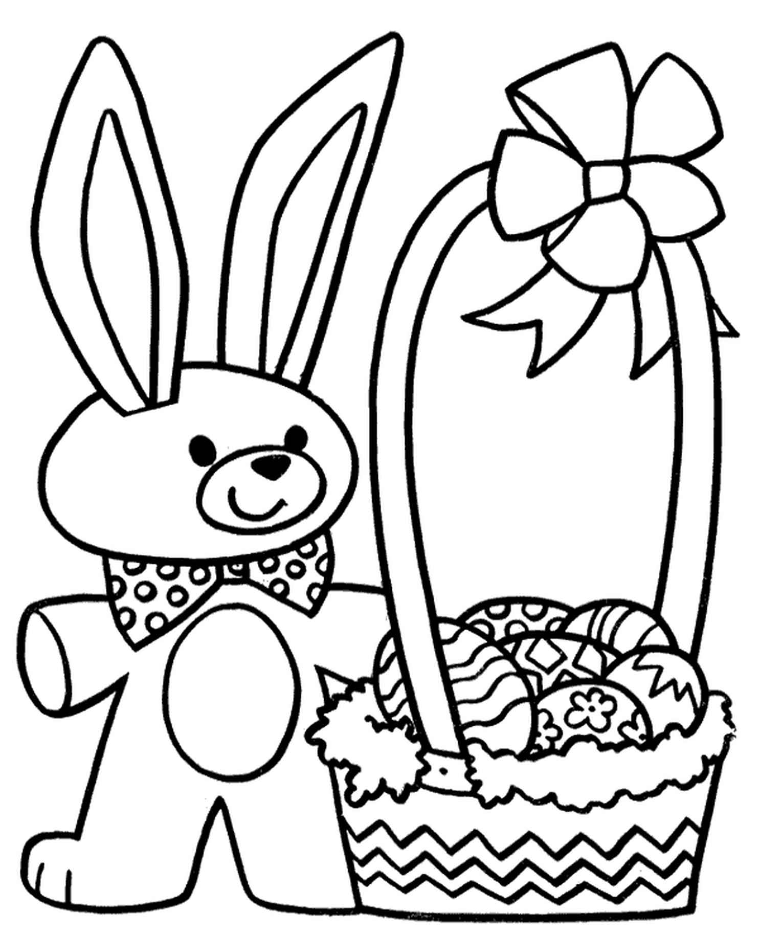Easter Bunny Near The Basket