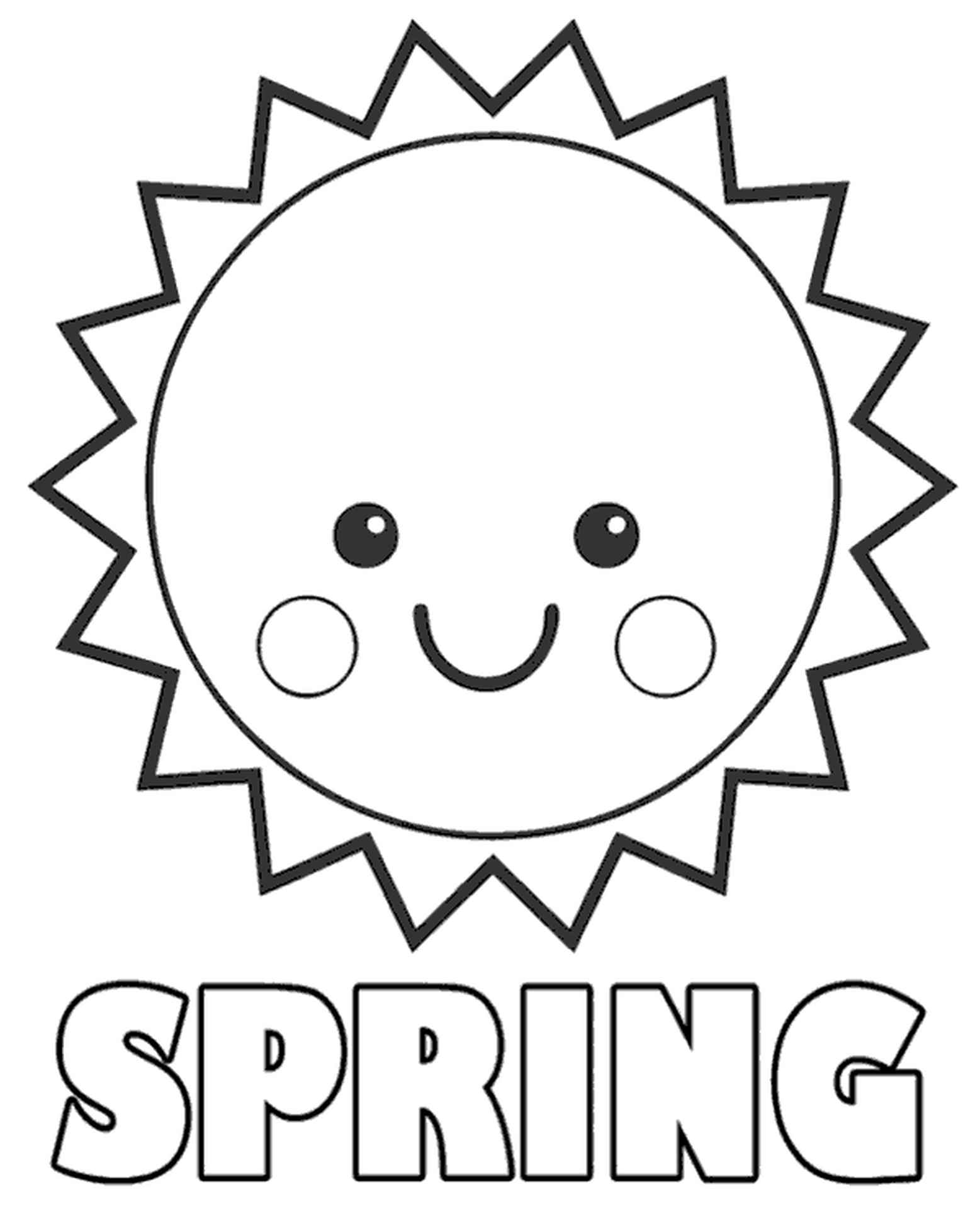 Easy Coloring Page For Children Sun