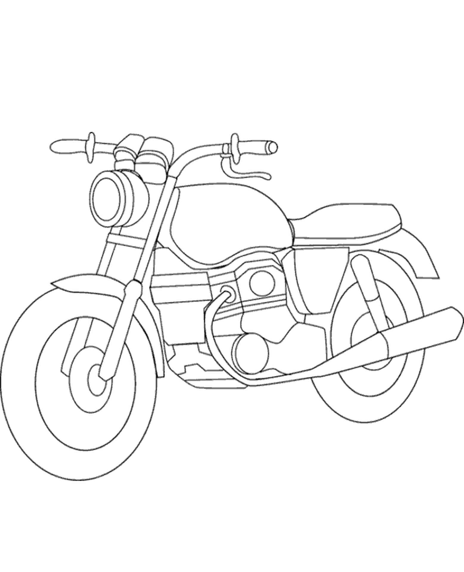 Easy Motorbike To Color