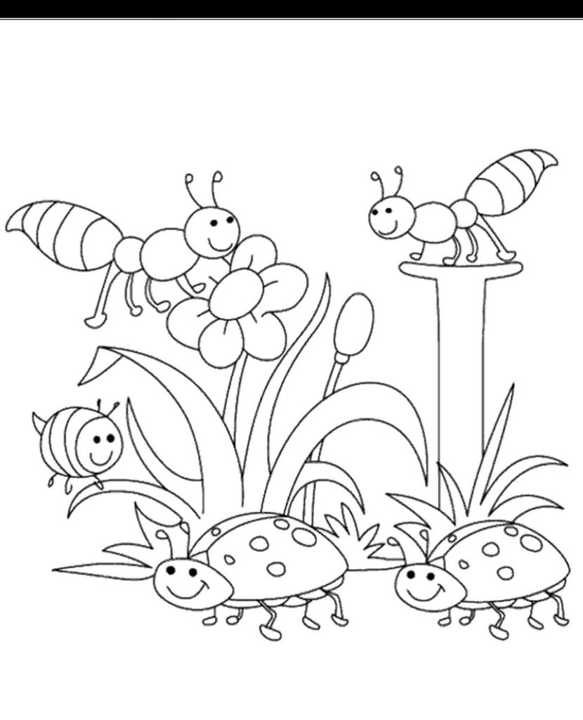 Easy Spring Coloring Pages