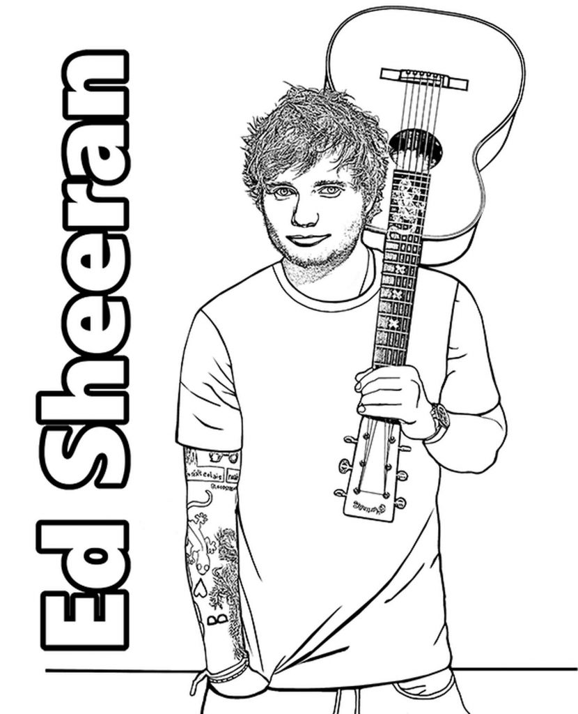 Ed Sheeran Coloring Page