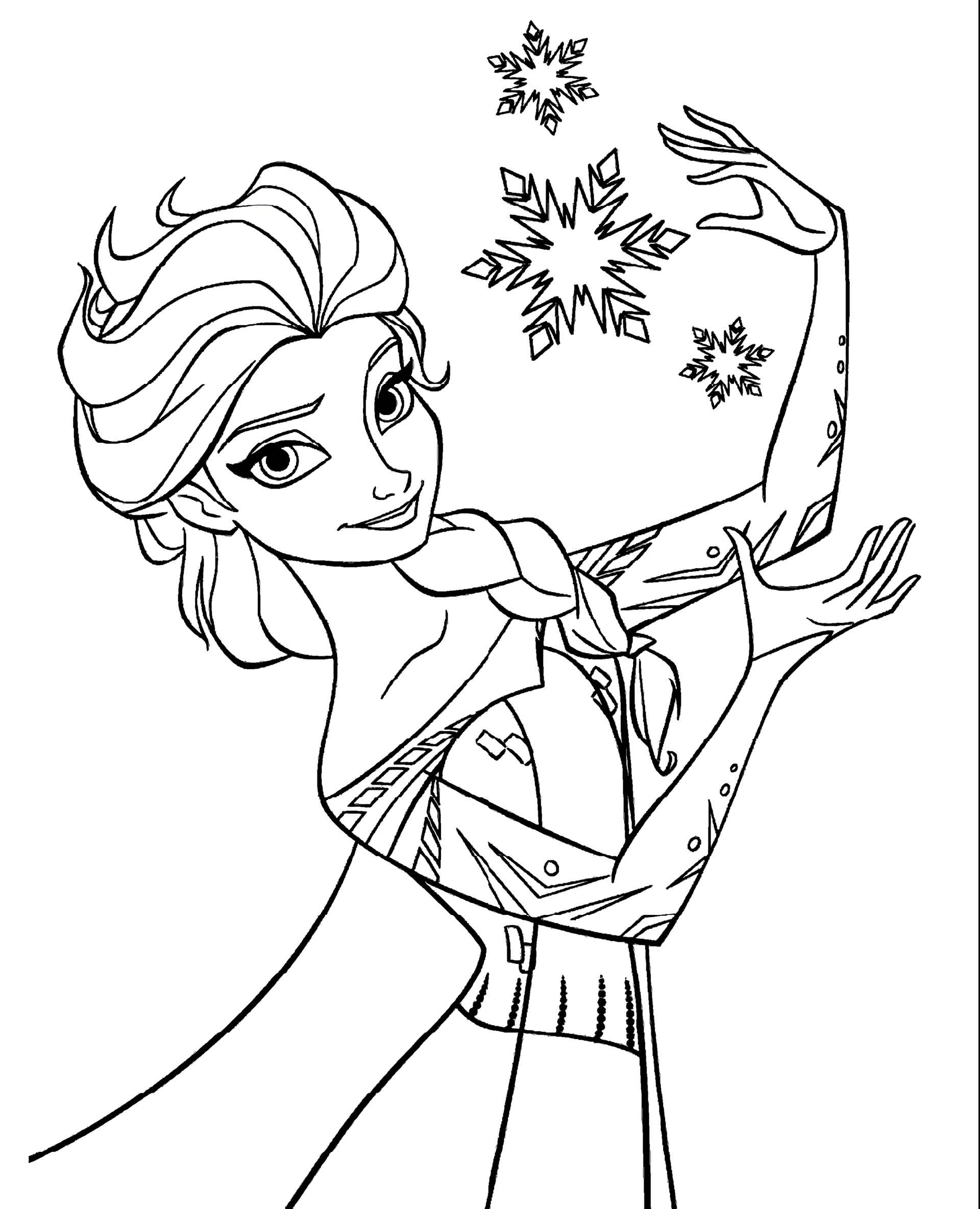 Elsa Doing Some Magic Coloring Page