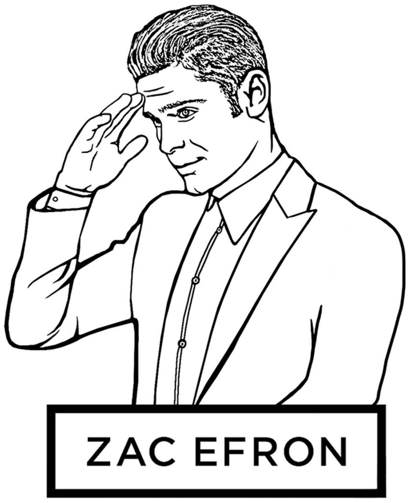 Embarrassed Zac Efron In A Suit