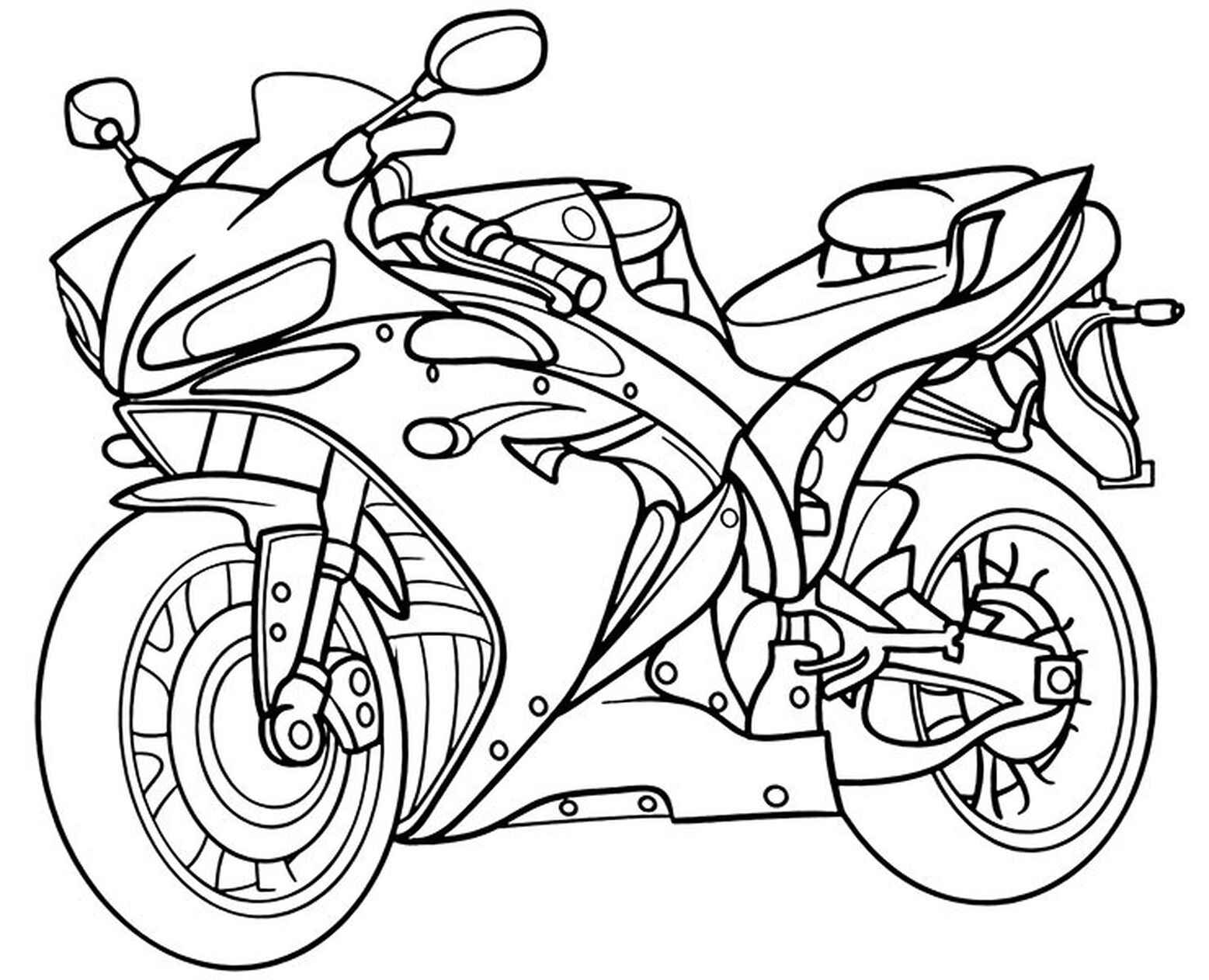 Fast Motorbike Coloring Page