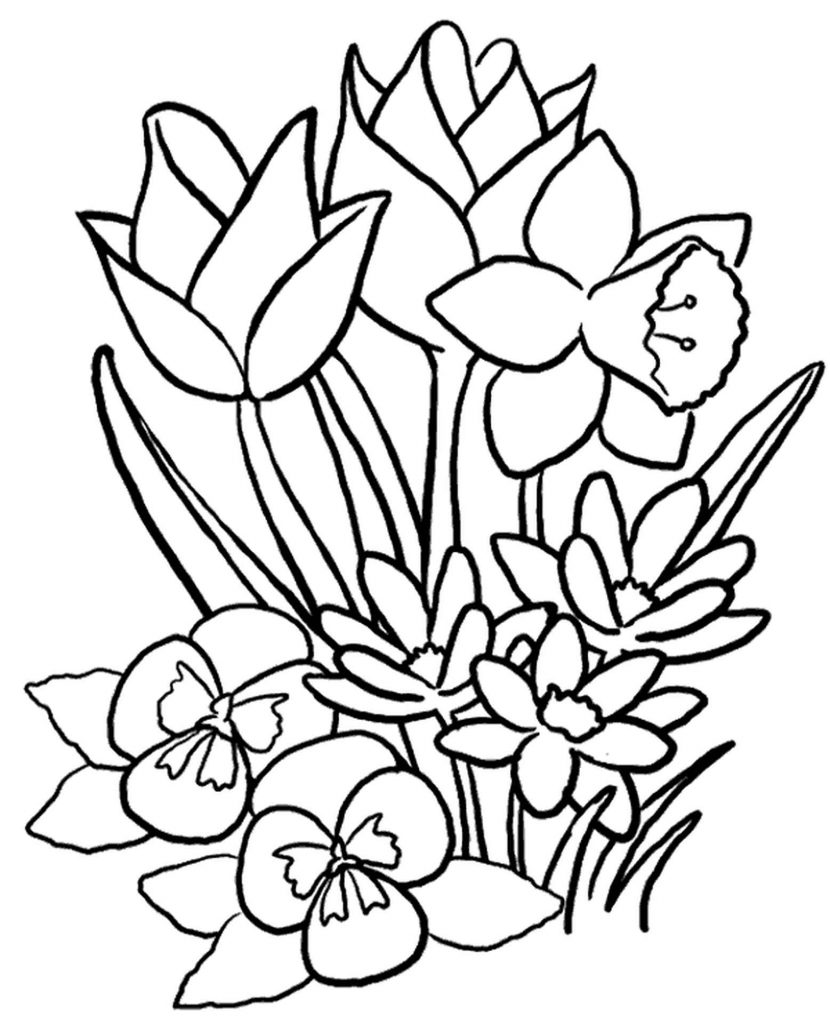 Flowers Coloring Sheet