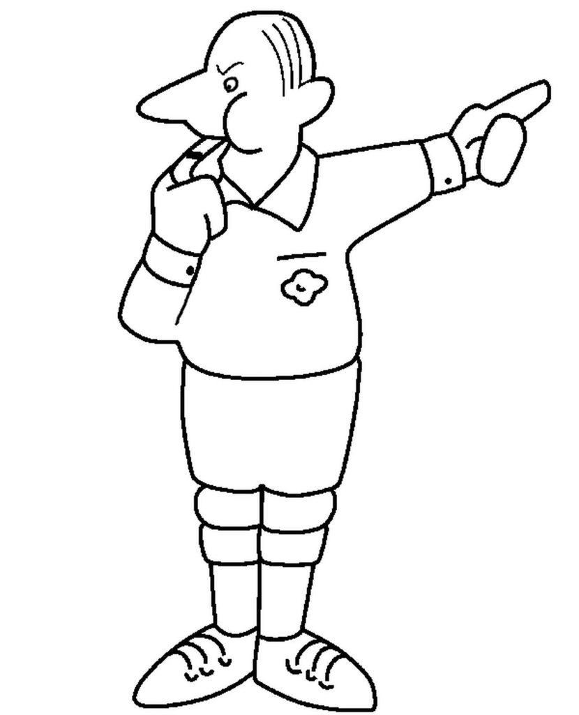 Football Referee Whistle Coloring Page