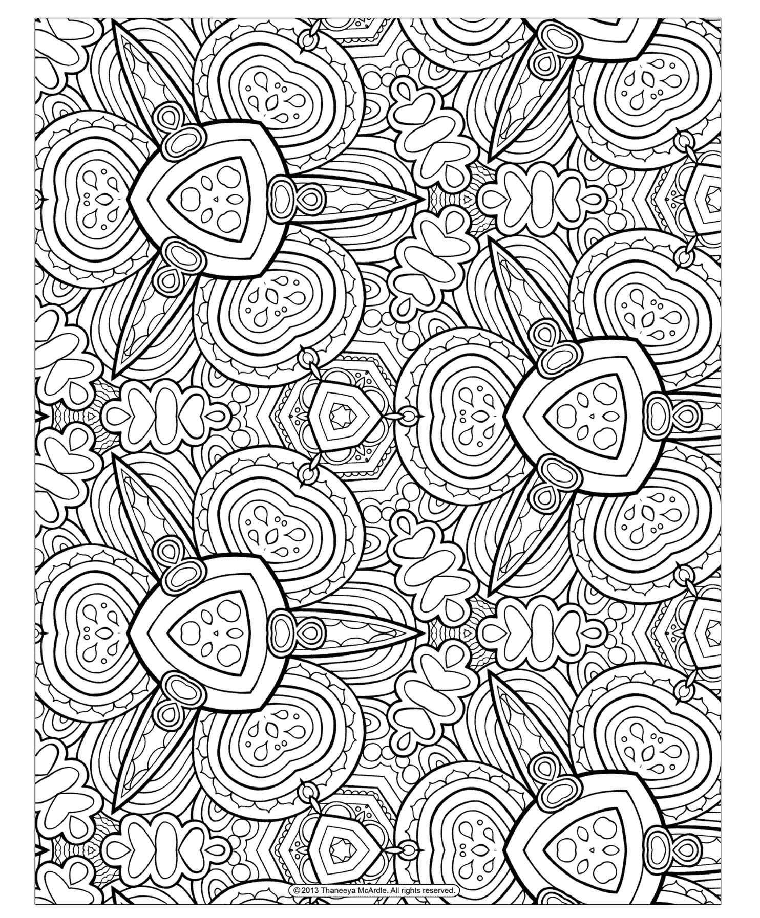 Free Adult Geometry Coloring Page