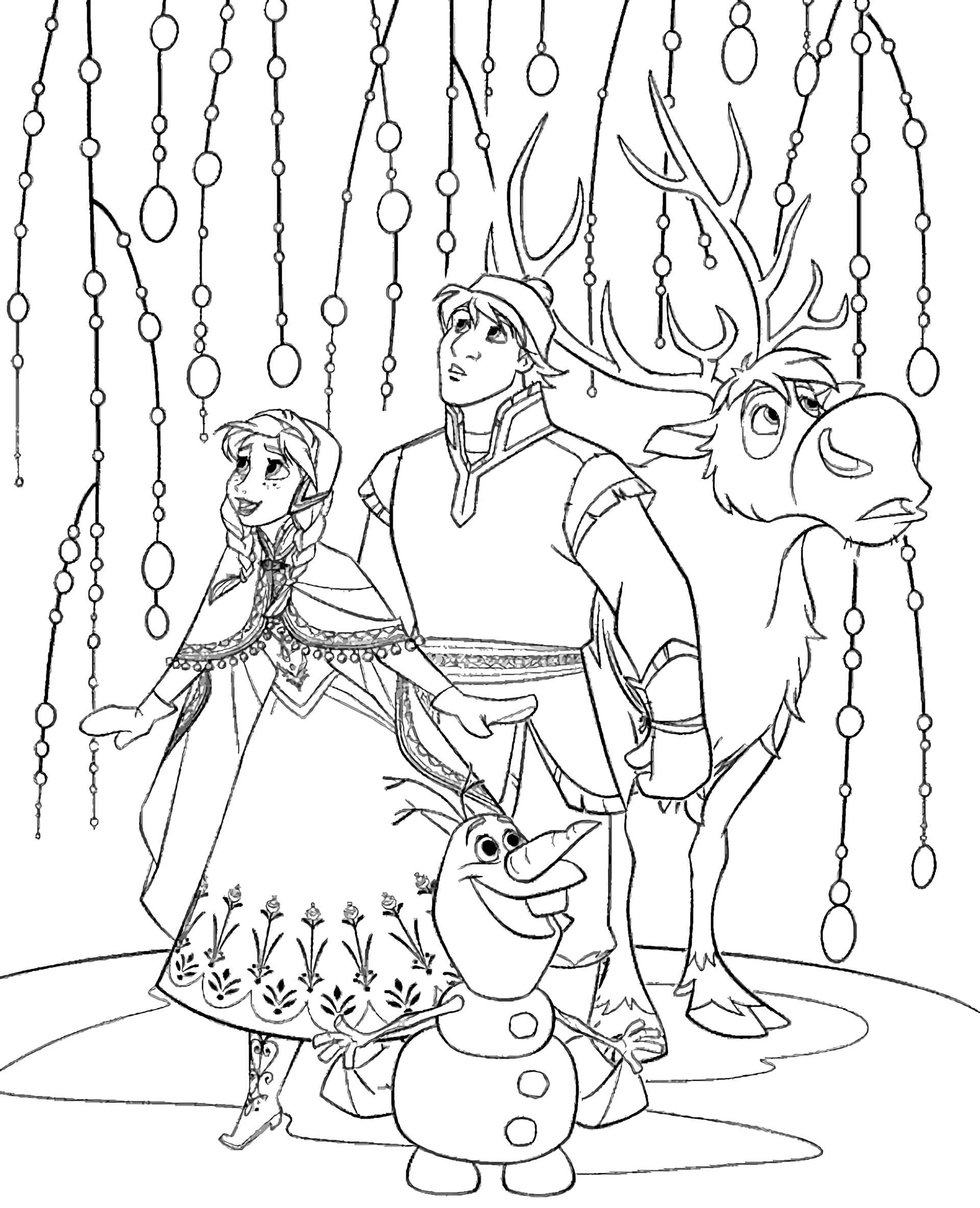 Free Frozen Coloring Page