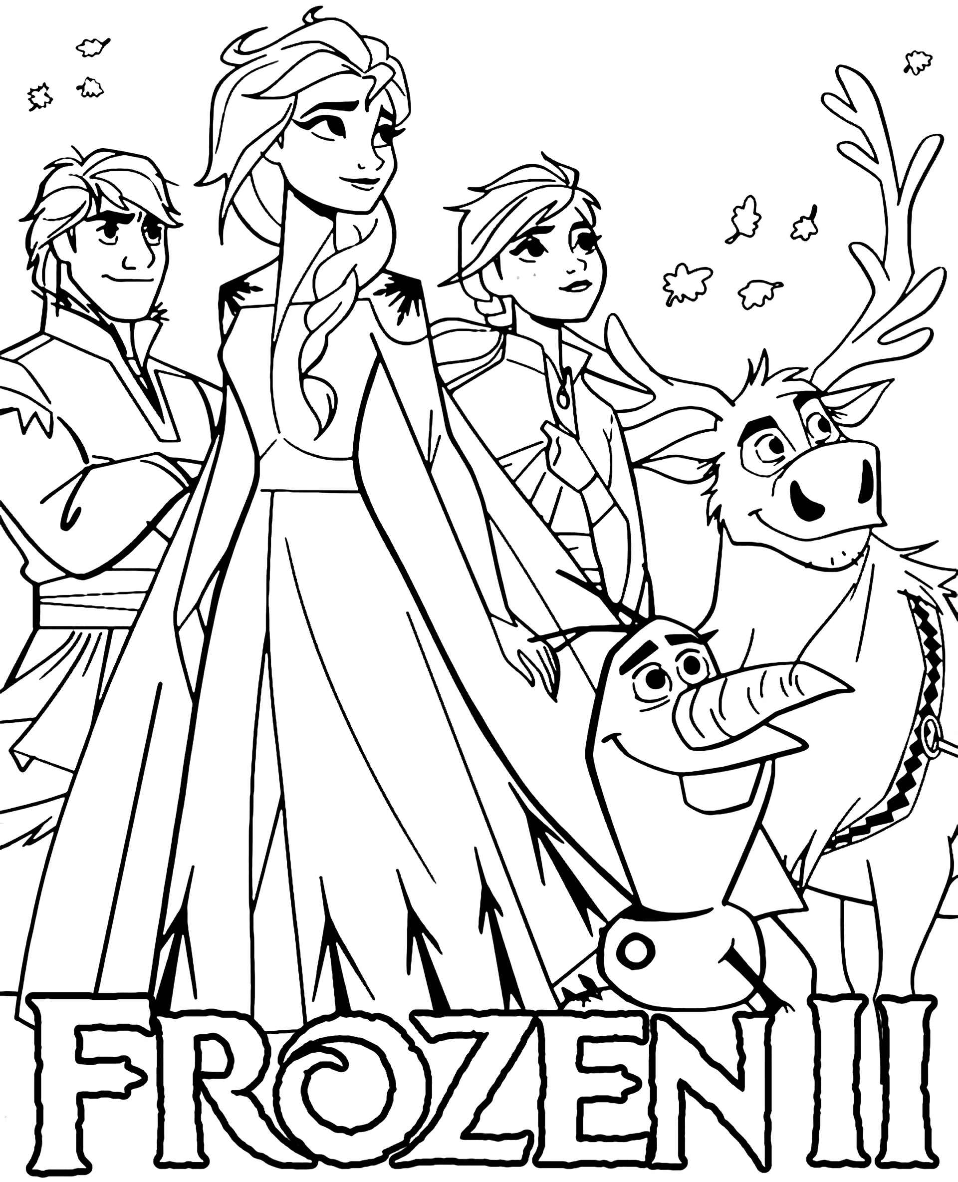 Frozen 2 Cover Coloring Page