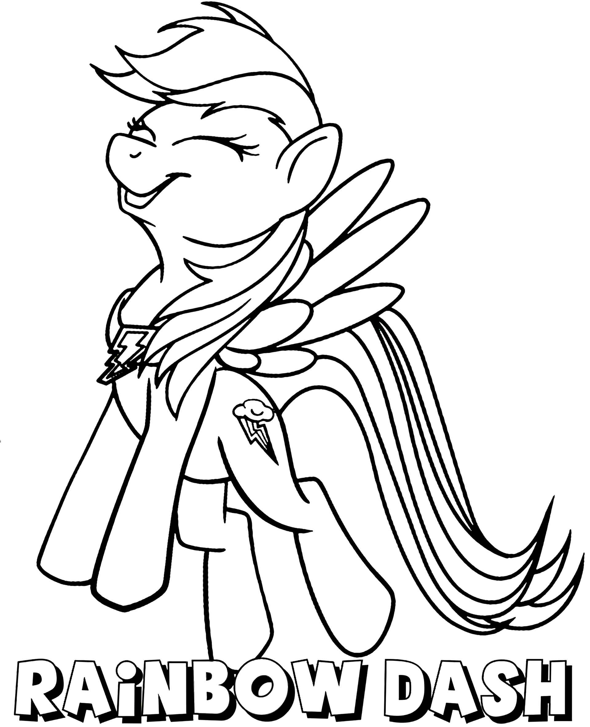 Funny Rainbowdesh With The Name Coloring Page