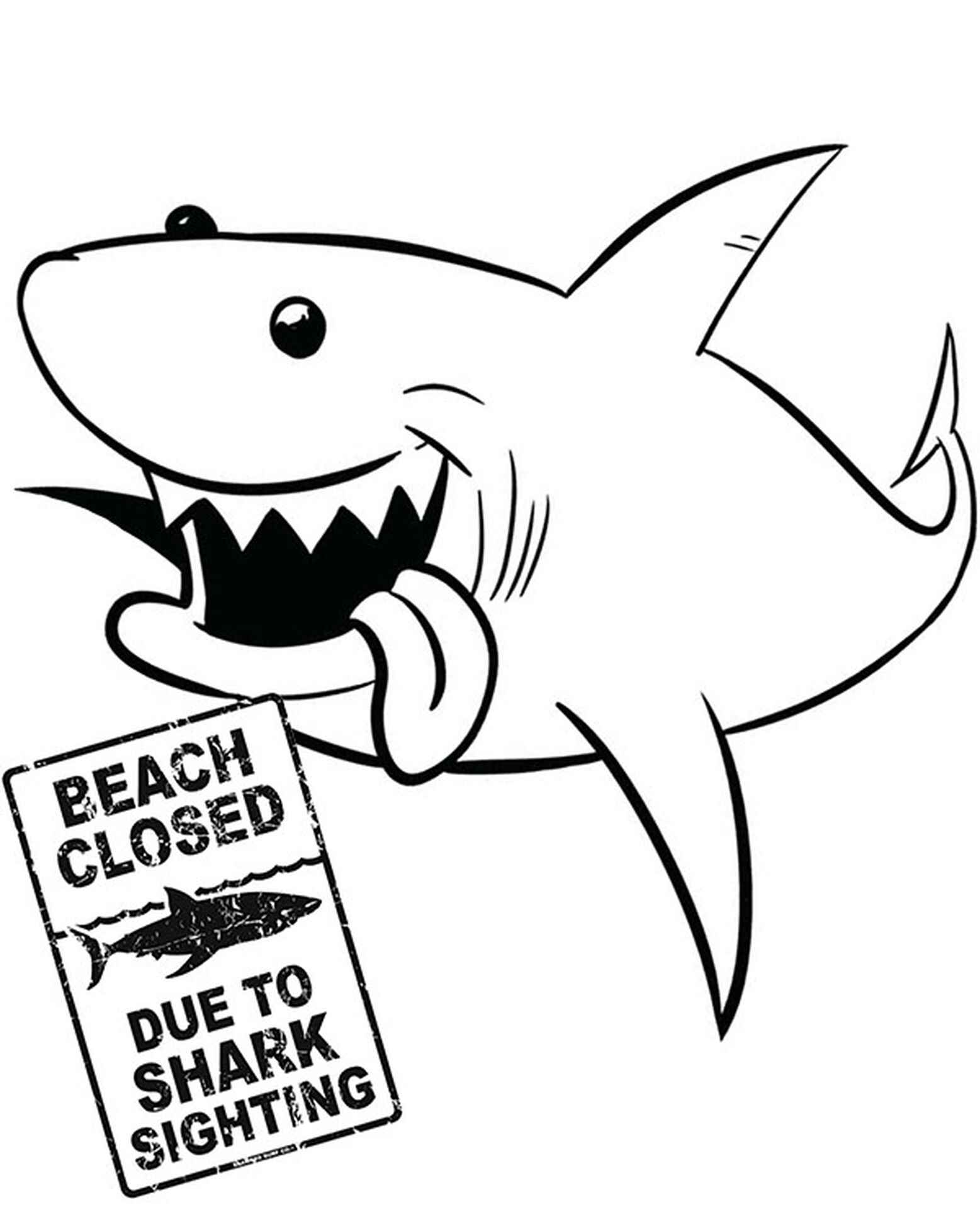Funny Shark To Color