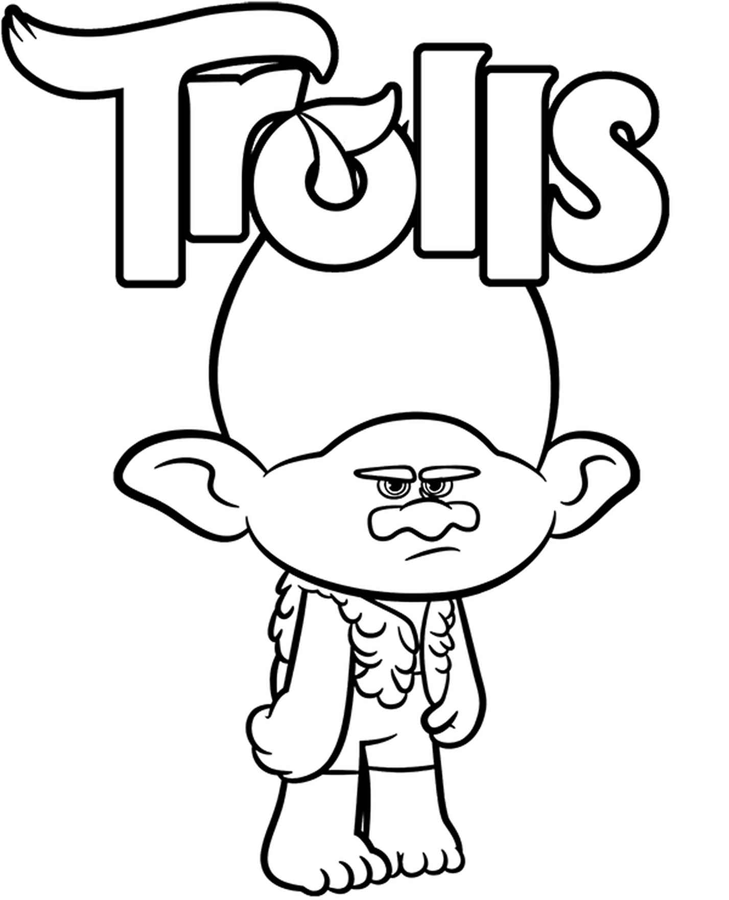 Funny Trolls Coloring Page