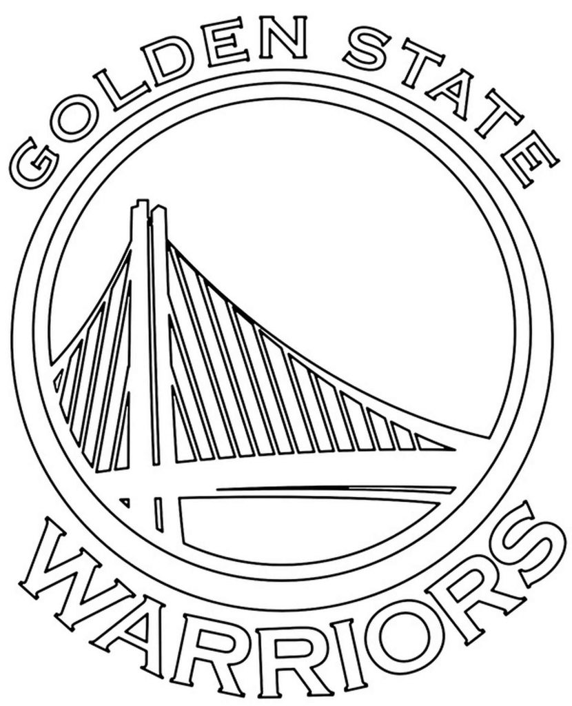 Golden State Warriors Logo Coloring Page