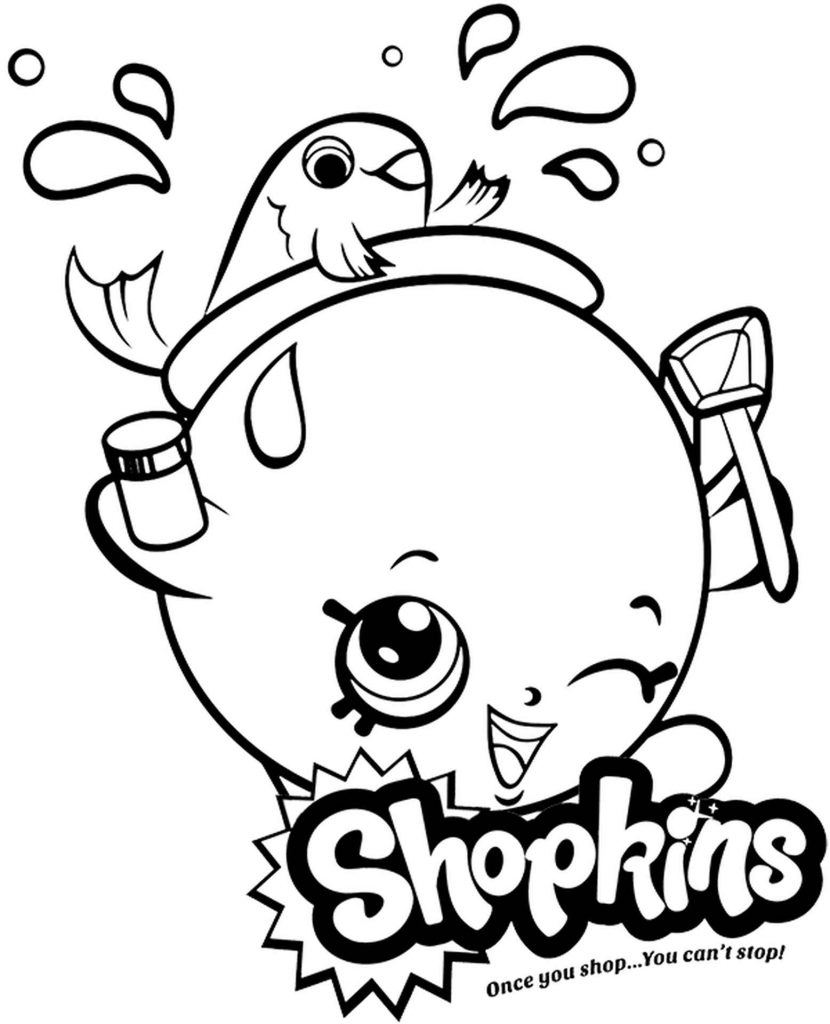 Goldie Fishbowl Shopkins Coloring Page