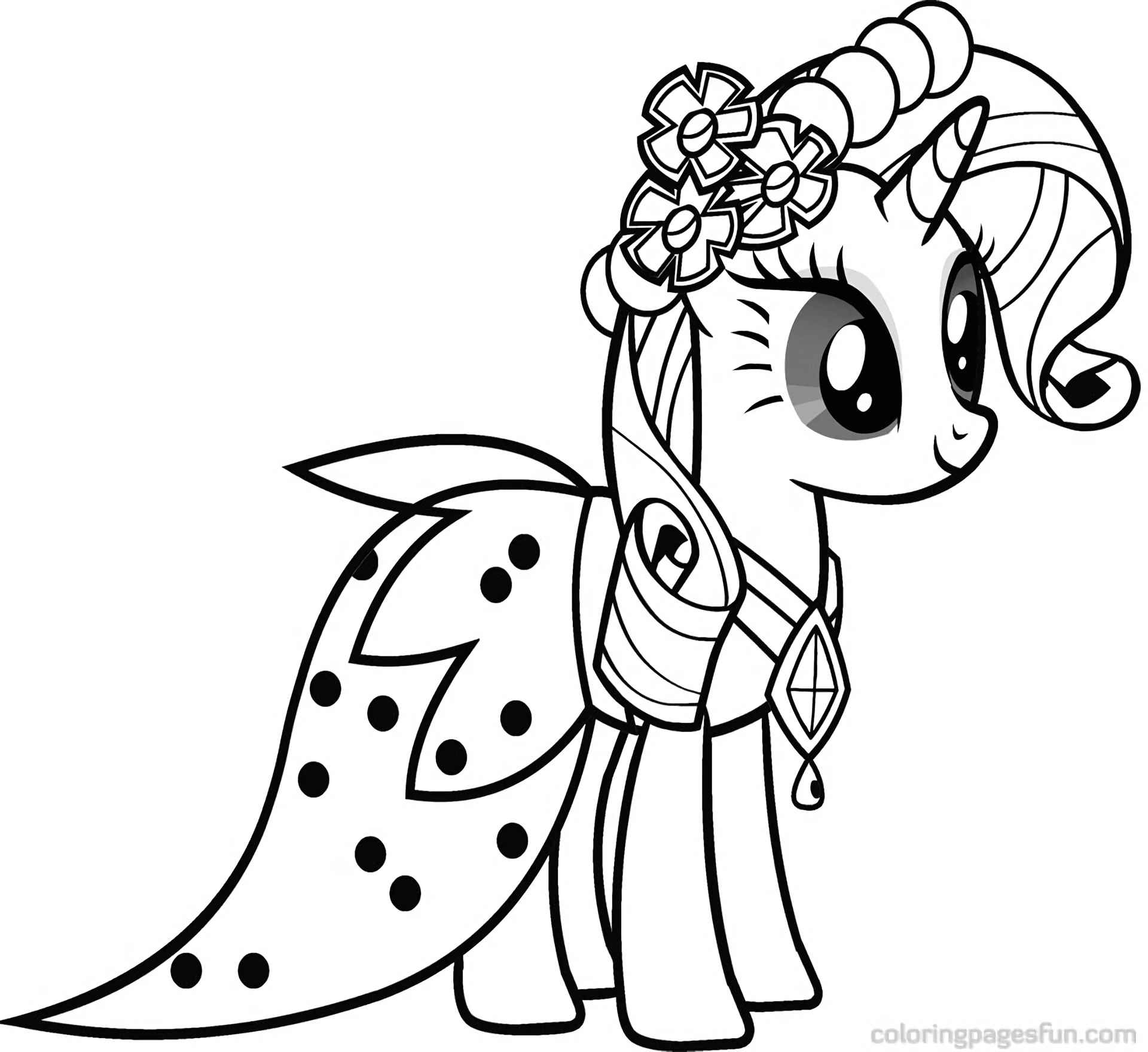 Gorgeous Rarity In An Elegant Outfit Coloring Page