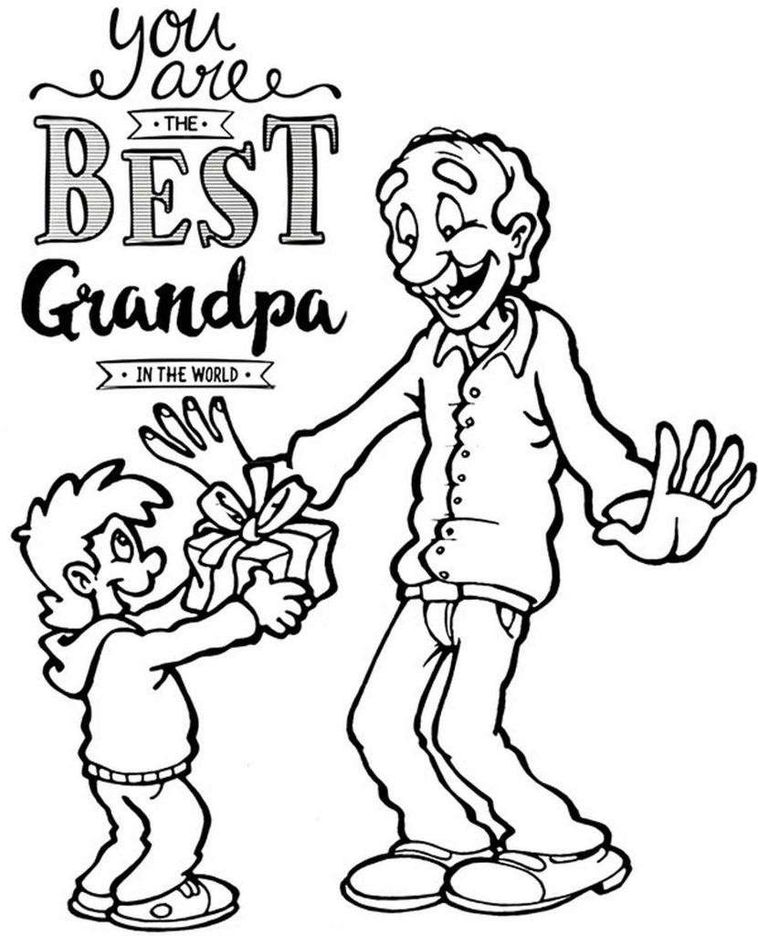Greeting Card For The Best Grandpa