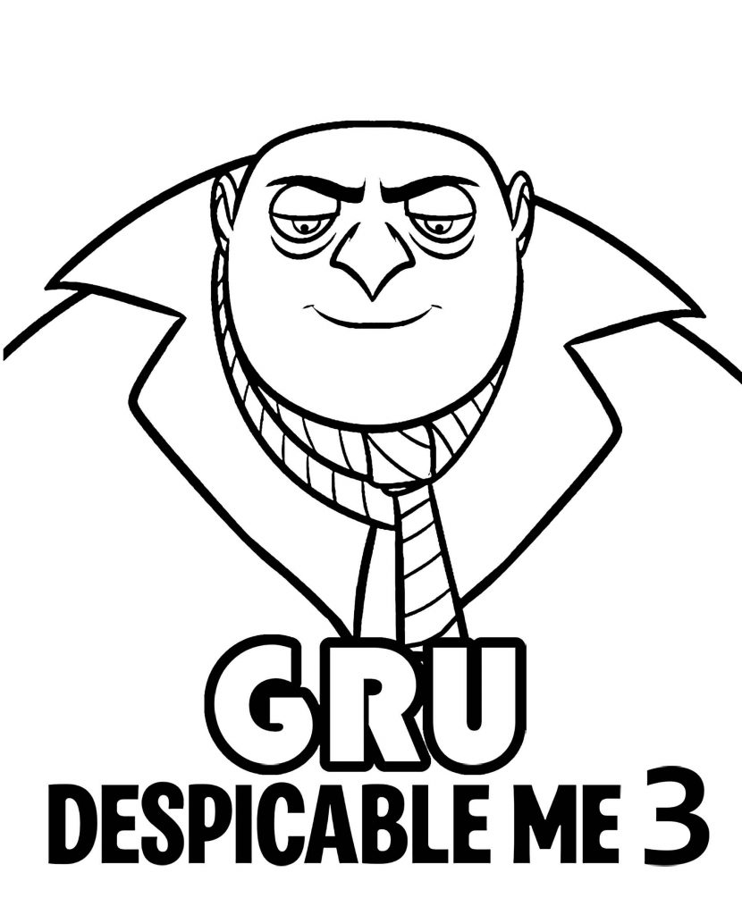 Gru And Logo Coloring Page