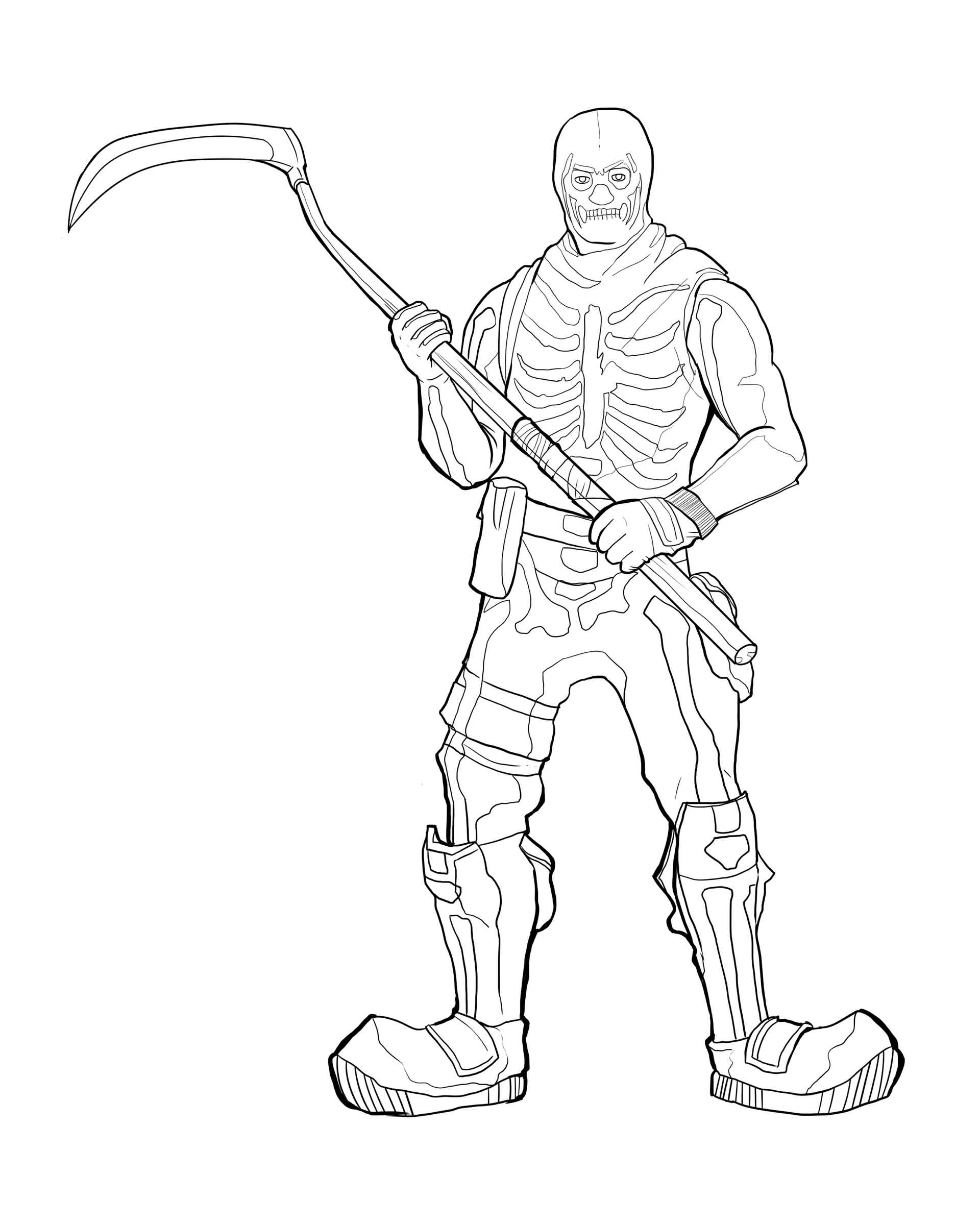 Halloween Scythe Skin From The Game Fortnite Coloring Page