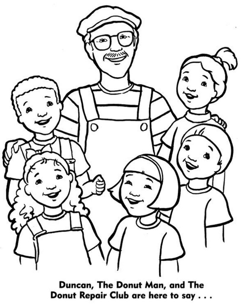 Happy Father With Five Children