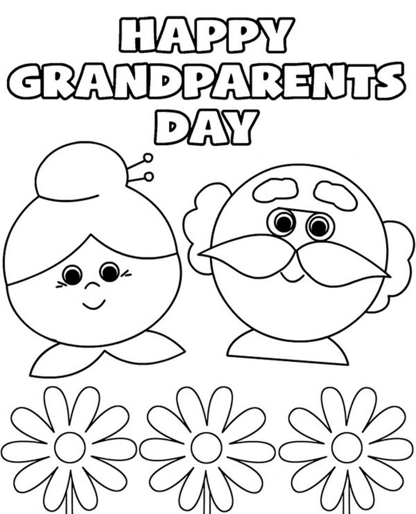 Happy Grandparents Day Coloring Page