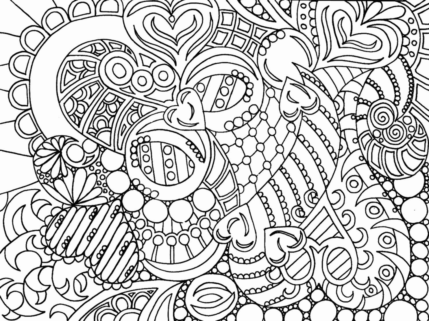 Hard Adult Coloring Page