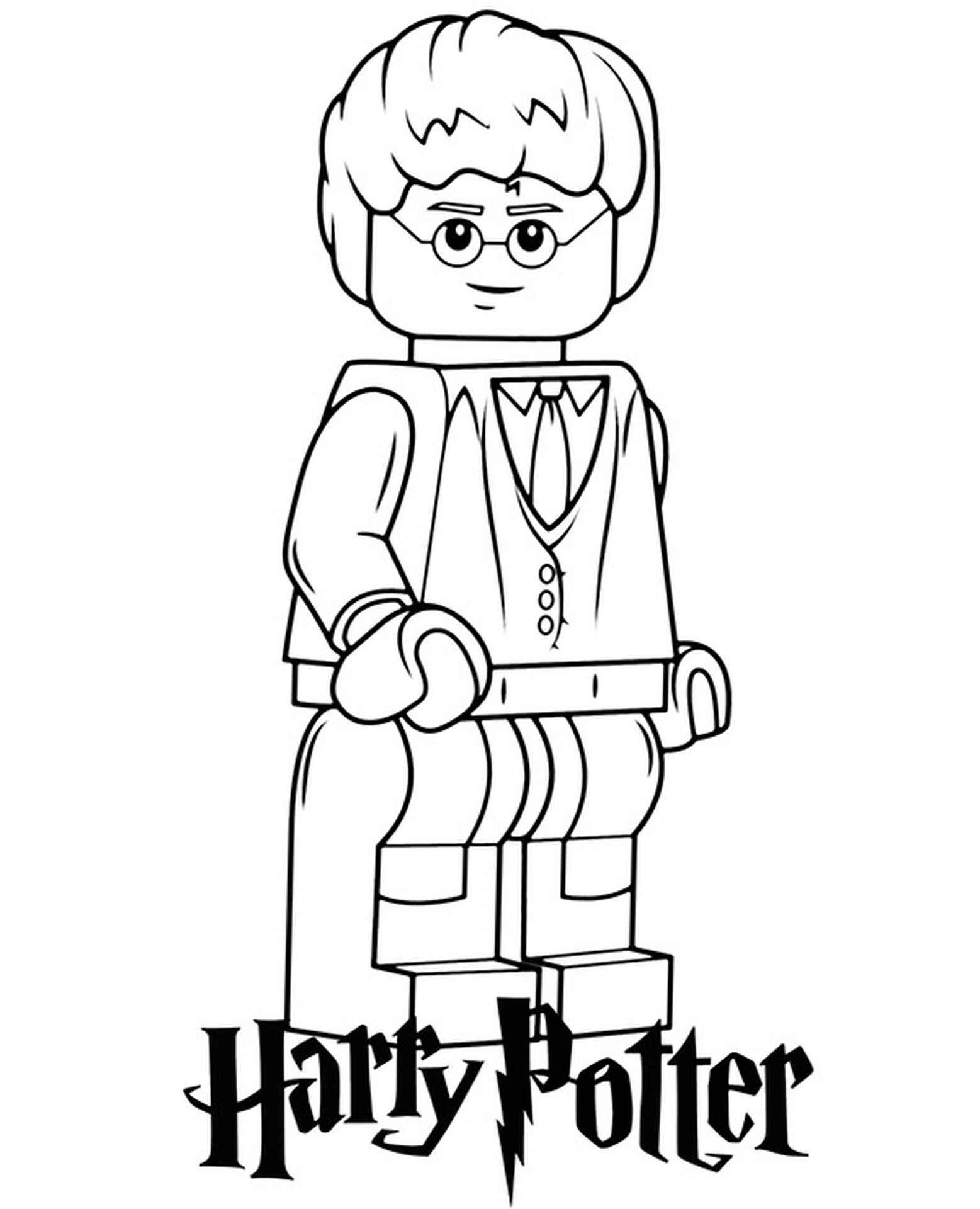 Harry Potter Lego Coloring Page