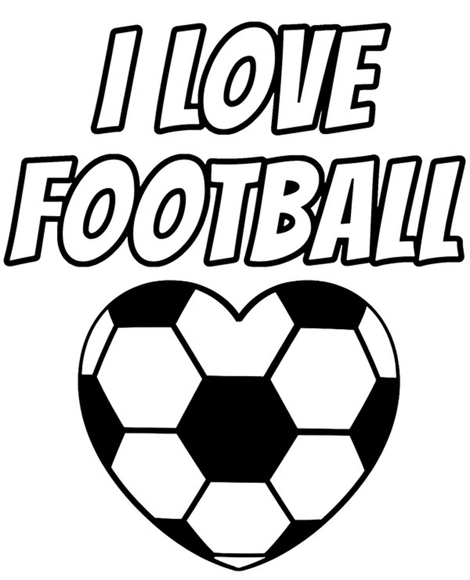 Heart Shaped Soccer Ball Coloring Page