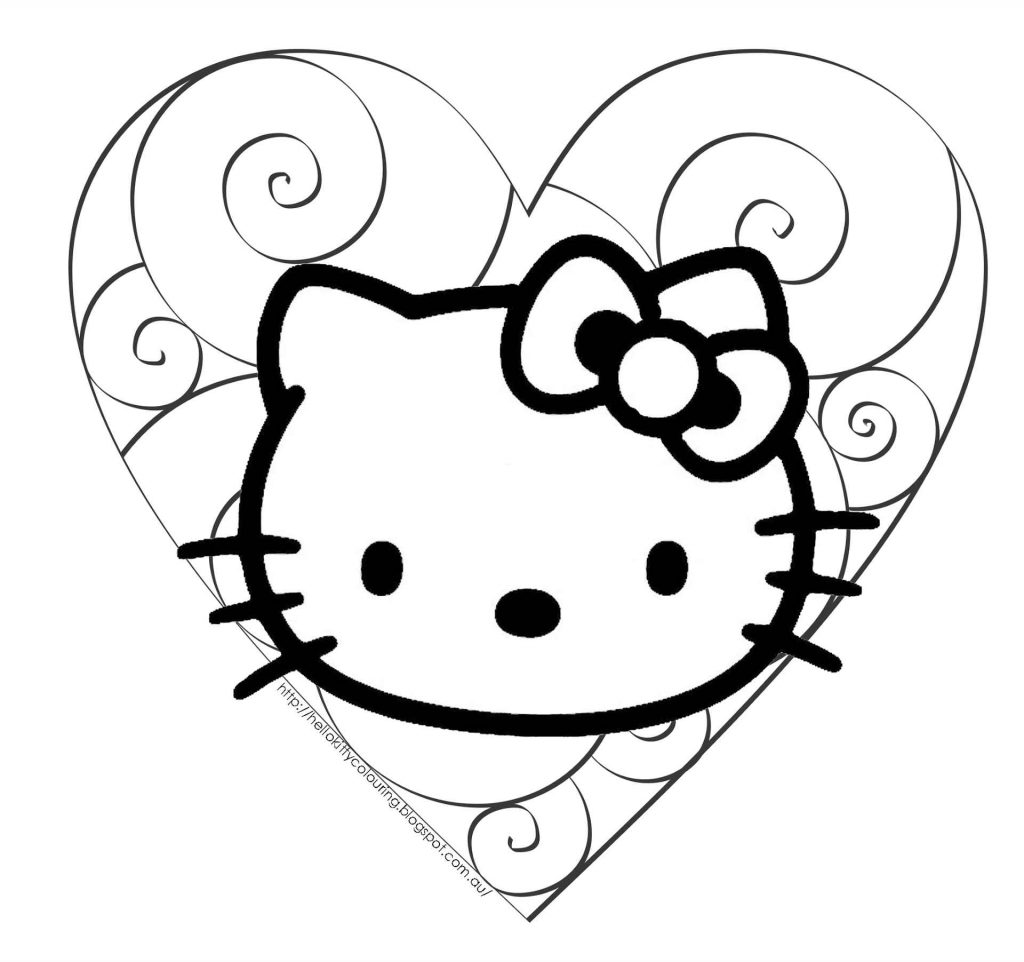 Hello Kitty In The Center Of A Patterned Heart