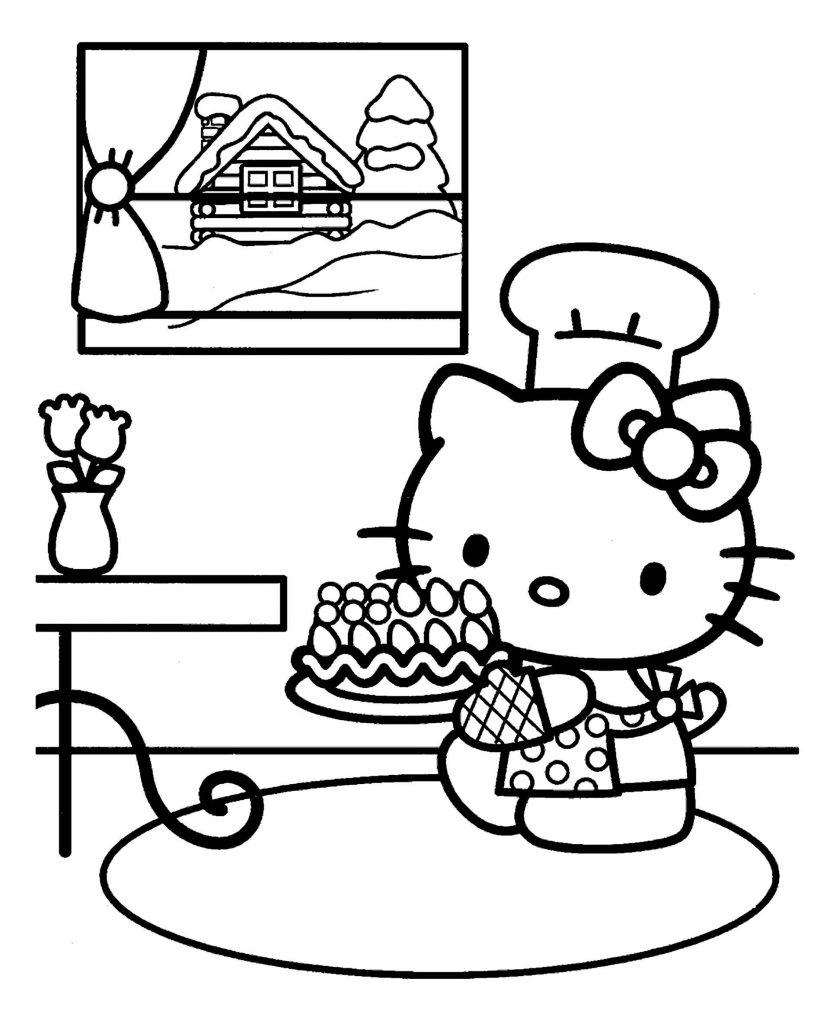 Hello Kitty Made A Birthday Cake At Home