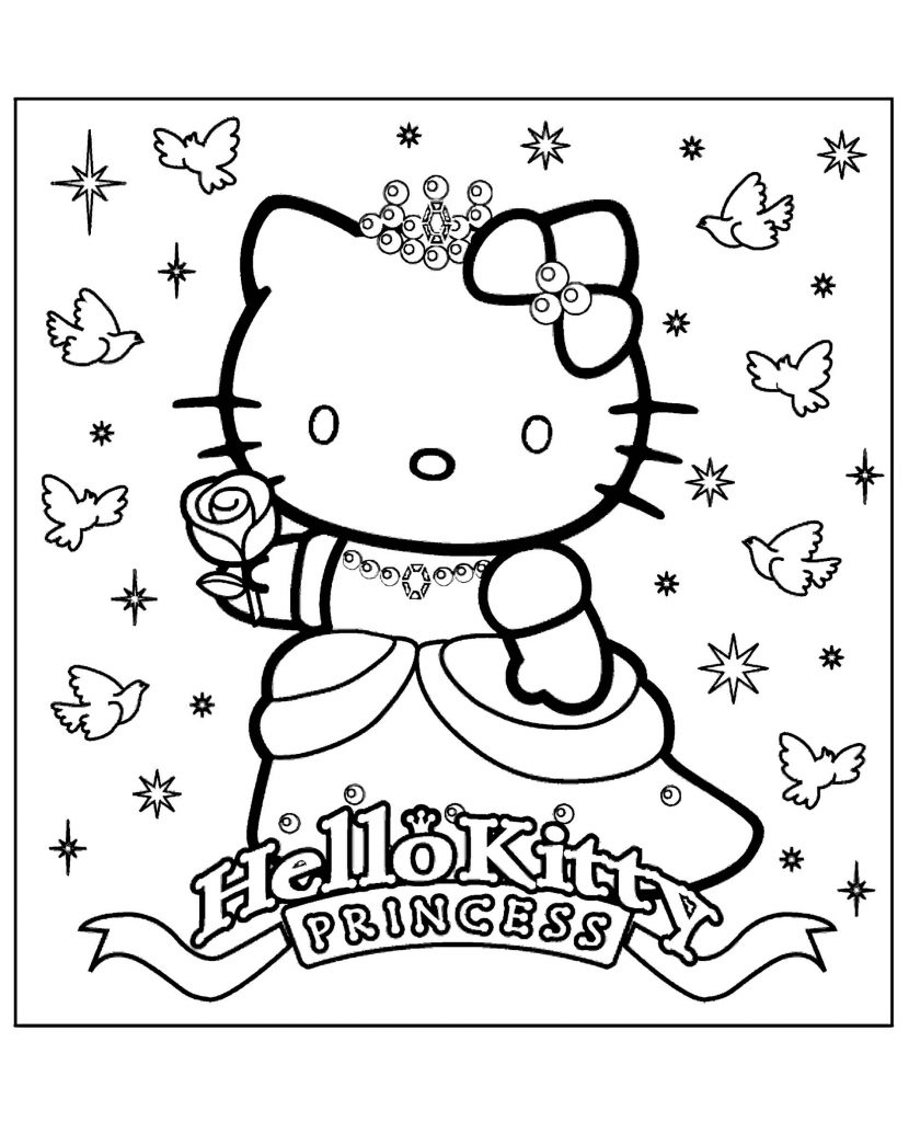 Hello Kitty Princess In A Sparkling Dress
