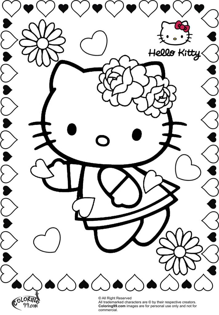 Hello Kitty Surrounded By Hearts