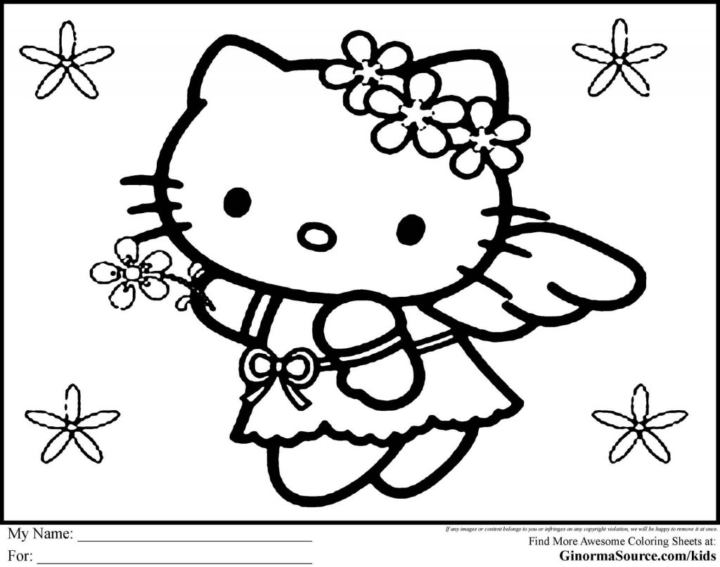 Hello Kitty Valentine Coloring Page Kitties Coloring Pages Kitties