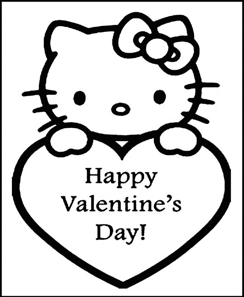 Hello Kitty With A Heart On Which The Inscription