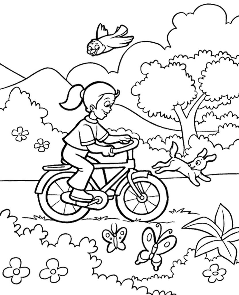 High Quality Spring Coloring Page