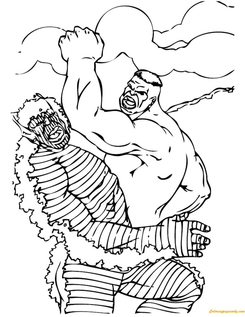 Hulk Vs Abomination Coloring Pages