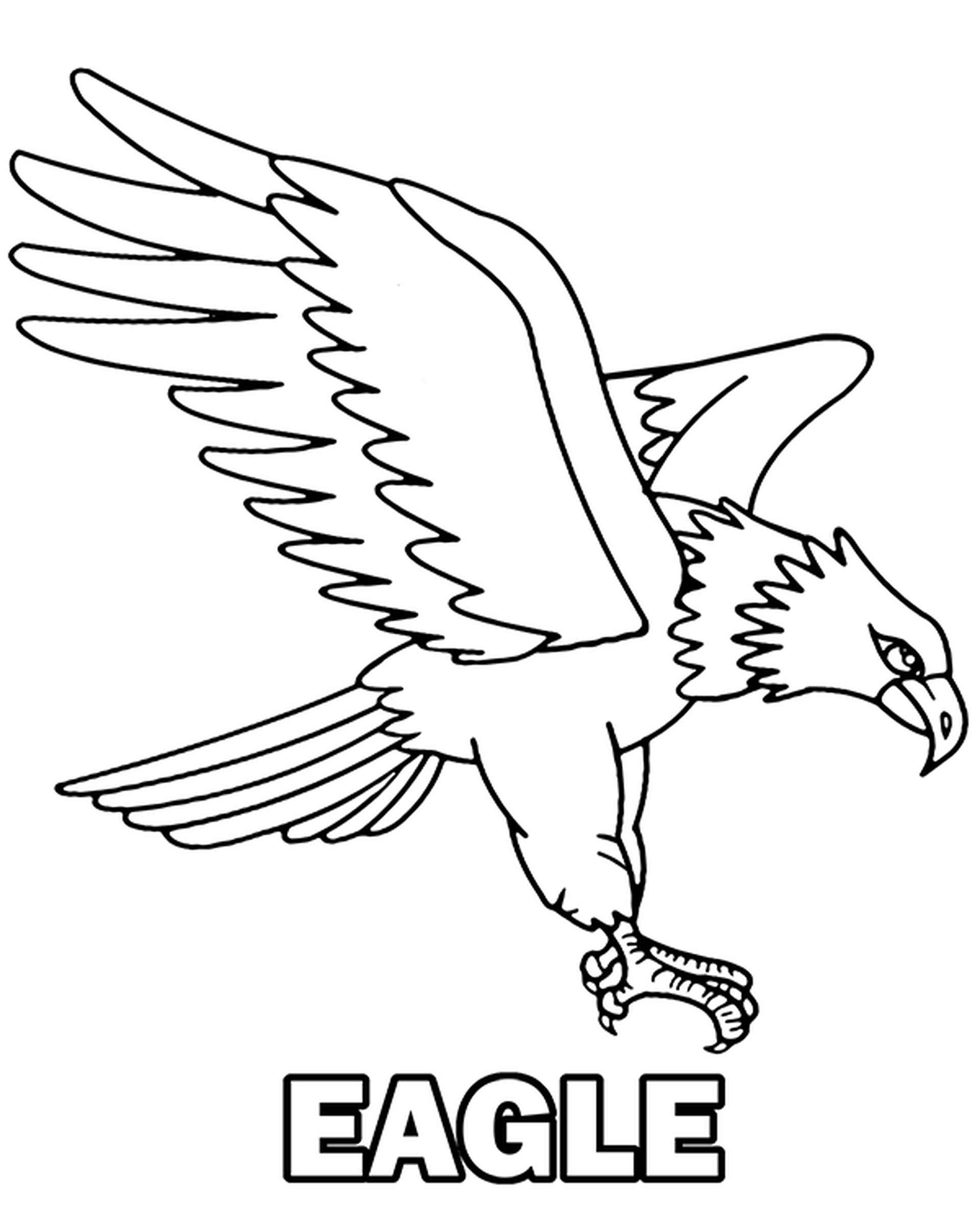 Hunting Eagle Coloring Sheet