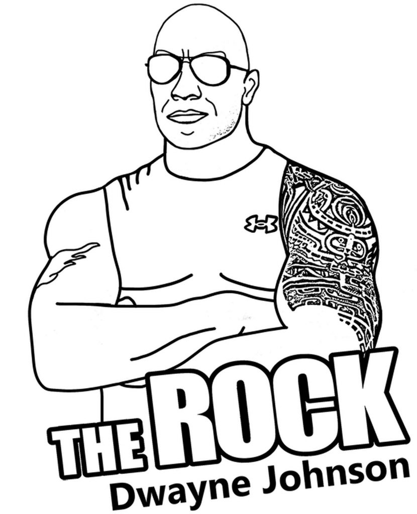 Image Of Cool The Rock Dwayne Johnson With Glasses And Tattoo