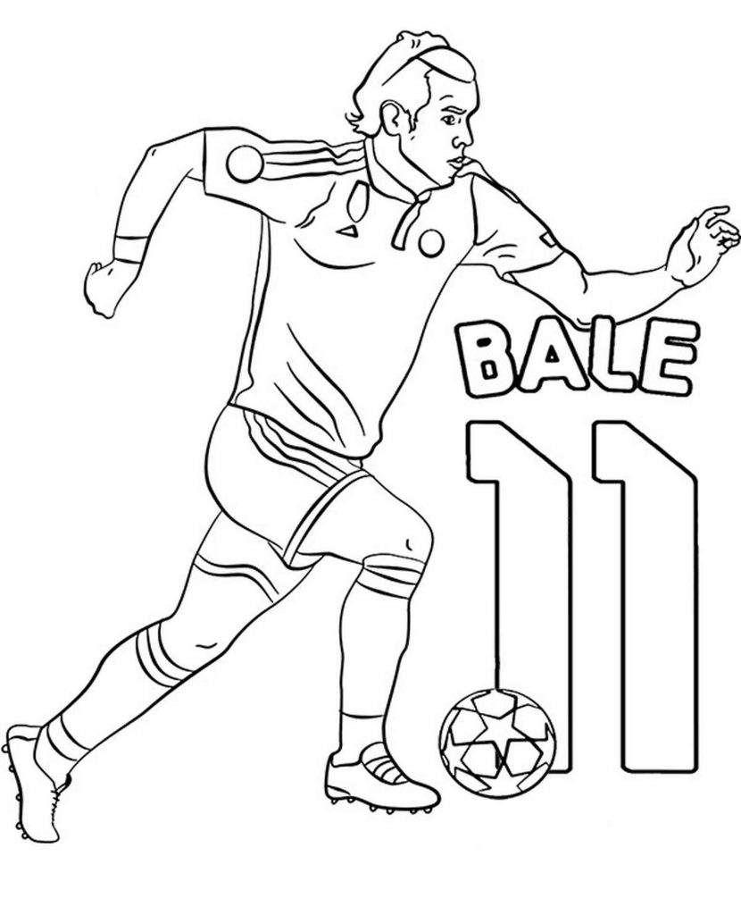 Image Of Gareth Bale 11 Running With A Soccer Ball