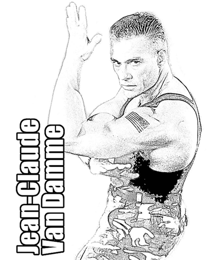 Image Of Jean-Claude Van Damme In A Fighting Stance