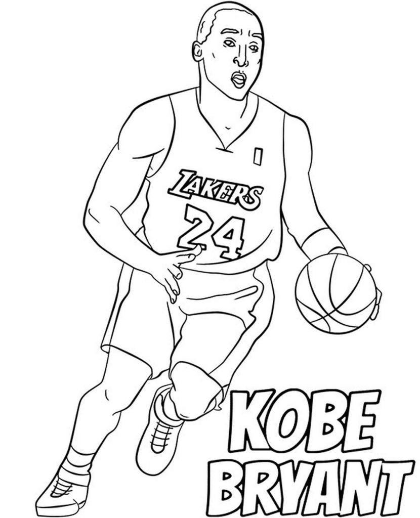 Image Of Kobe Bryant Running With A Basketball