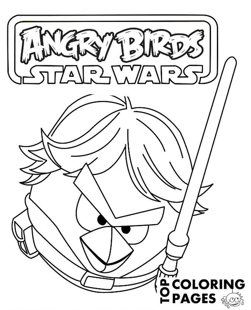 Image Of Luke-Skywalker With A Laser Sword From A Game Angry Birds. Star Wars