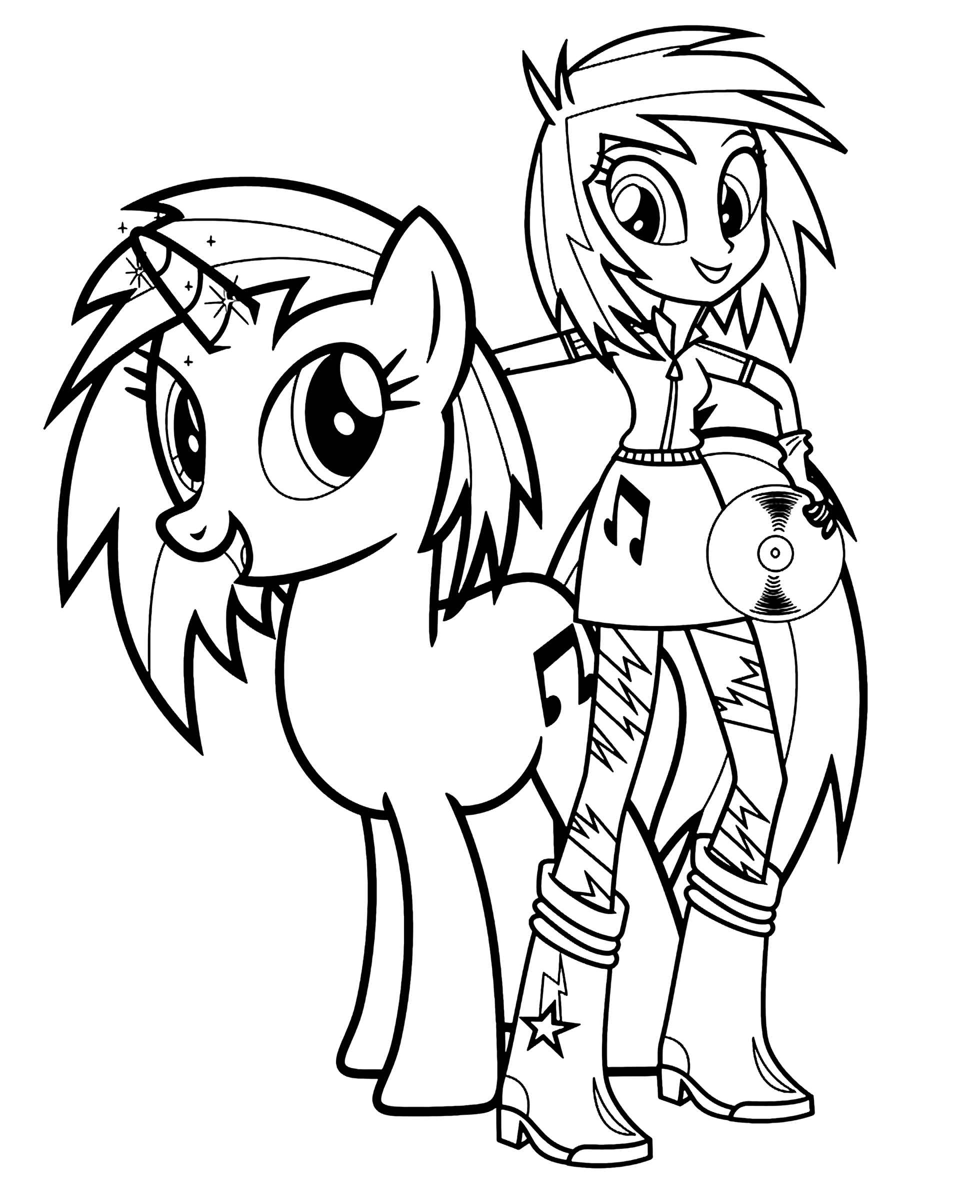 Image Of Music Pony And Music Girl From My Little Pony The Movie
