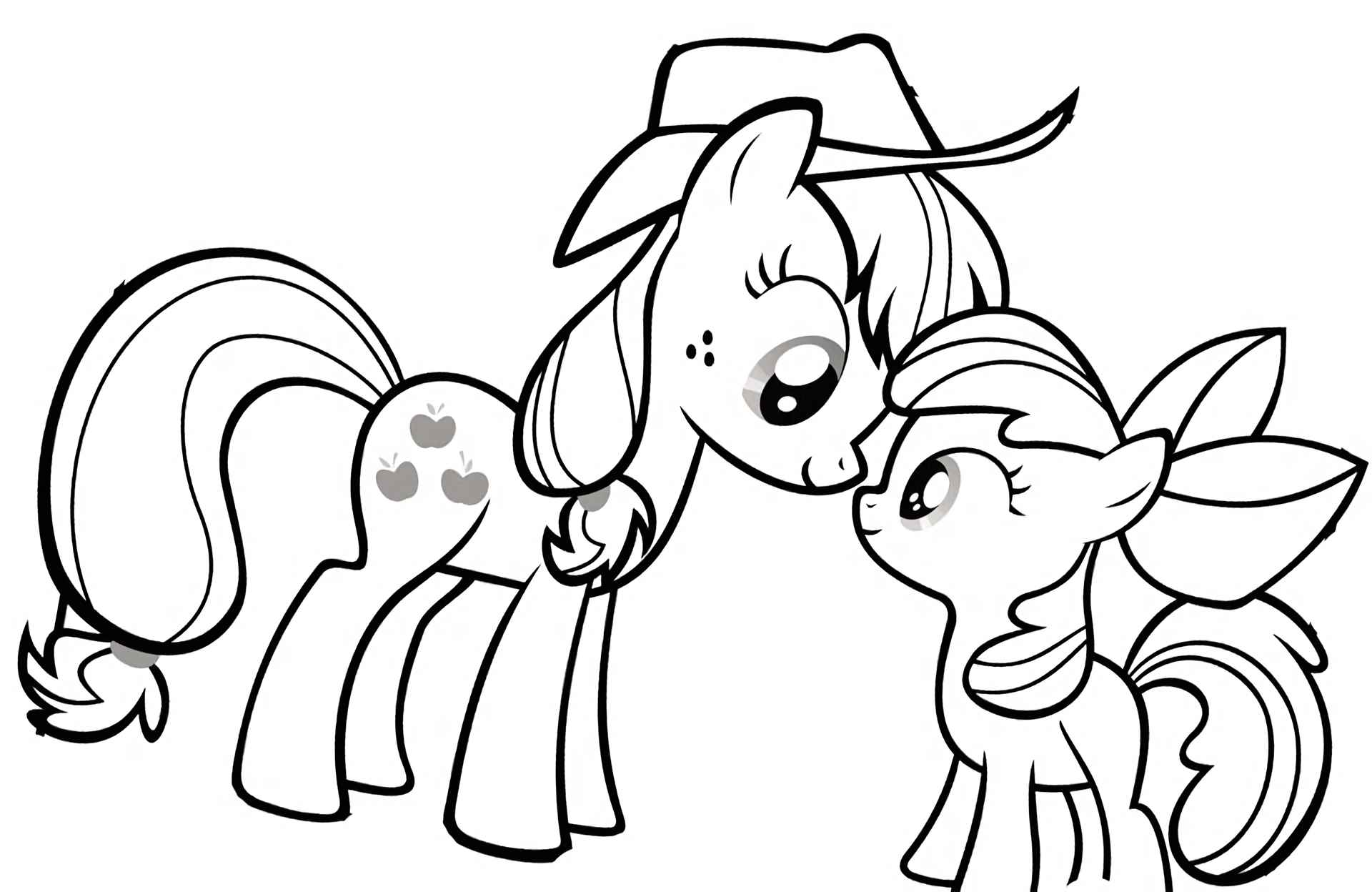 Image Of Pony Applejack Communicates With Her Sister Apple Bloom